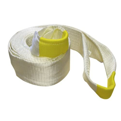 """Wholesale Erickson 59802 White 6"""" x 30' Recovery Strap, 55,000 lbs Breaking Strength, 27,500 lbs Maximum Vehicle Weight Capacity"""