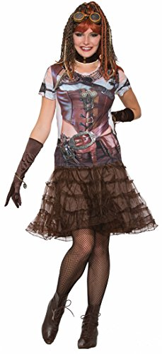 Futuristic Halloween Costumes (Women's Futuristic Steampunk Printed Costume Sublimation Shirt X-Large 16-22)