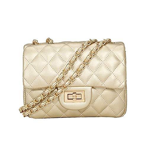 KALOY YSL Women's Summer Season Tassel Female Bag Package Chain Shoulder Bag Mini Bag Handbag (Black) Light Gold 1