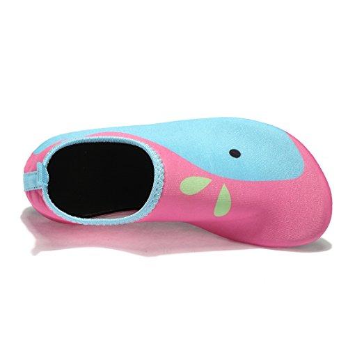 Beach Schuhe Wasser Unisex blue Surfen Pool Yoga Laiwodun Pink Schuhe Mädchen Schuhe Barefoot Aqua für Schwimmen Kleinkind qgB1wIv