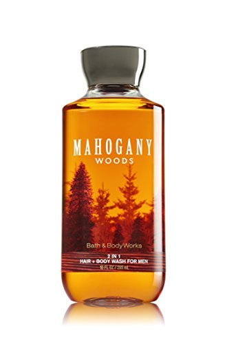Bath & Body Works, Signature Collection 2 in 1 Hair + Body Wash, Mahogany Woods For Men, 10 Ounce