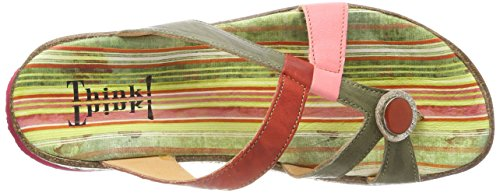Think! Women's Zega_282383 Flip Flops, Multicoloured Multicolour (Coral/Kombi 74 Coral/Kombi 74)