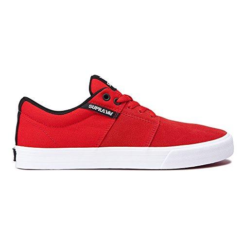 シネウィ砂利収まるスープラ (SUPRA) STACKS II VALC スタックス ツー バルク (RED WHITE) 23cm スケートボード シューズ スニーカー スケボー