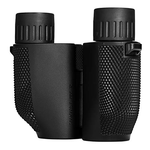Aurosports 10×25 Folding High Powered Binoculars With Weak Light Night Vision Clear Bird Watching Great for Outdoor Sports Games and Concerts