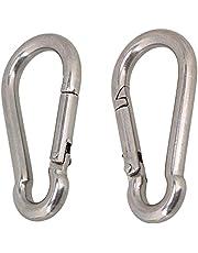 CNBTR Spring Snap Hook Grade Snap Link Hook Heavy Duty 304 Stainless Steel M8 x 80mm Pack of 2