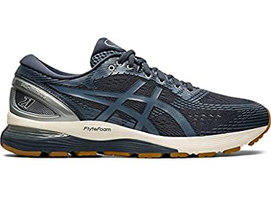 ASICS Men's Gel-Nimbus 21 Running Shoes Grey Size: 8