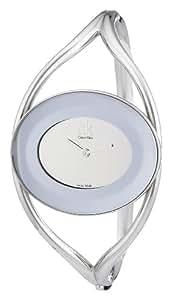Calvin Klein Delight K1A23508 - Reloj de mujer de cuarzo, correa de acero inoxidable color plata