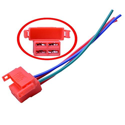 Starter Relay Connector - FLYPIG 4-Way Starter Solenoid Relay Plug Connector for Honda CBR600 F2 F3 CBR900 CBR929 CBR954 CBR1100XX VTR