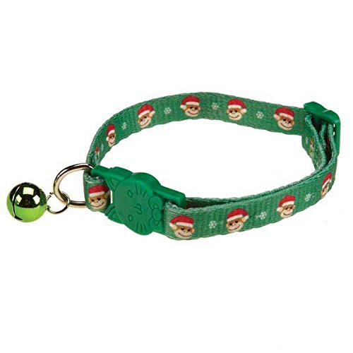 Collection Monkey Side East - East Side Collection ZA3911 08 15 Holiday Ty Designed Monkey Business Cat Collar, 8-12-Inch,