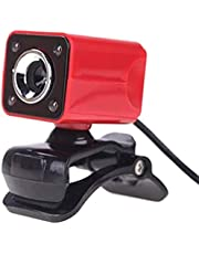 FANPING Webcam Definition Night Vision Camera Built Computer 10 M 4LED Free Microphone Sound Absorbing Switch (Color : Red)