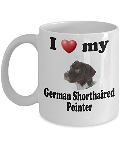I Love My German Shorthaired Pointer: White Ceramic Coffee Mug