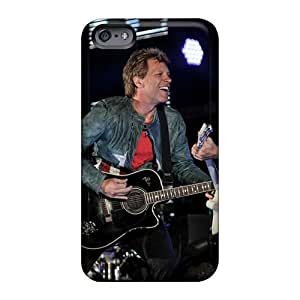 Scratch Protection Hard Phone Cover For Iphone 6plus With Provide Private Custom Vivid Bon Jovi Band Pattern AlissaDubois