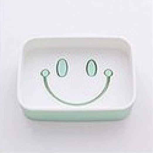 HONKEND Smiley Face Jabón Caja Inodoro Baño Doble Drenaje Jabón ...