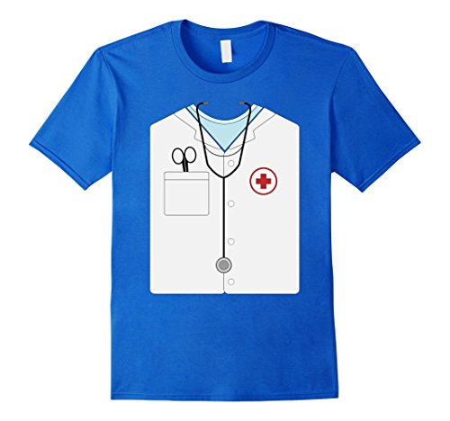 Mens Doctor Halloween Costume Shirt - Great Nurse Outfit Gift Tee 3XL Royal Blue (Great College Male Halloween Costumes)