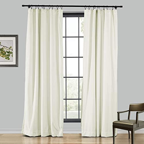 TWOPAGES Extra Long Velvet Curtain