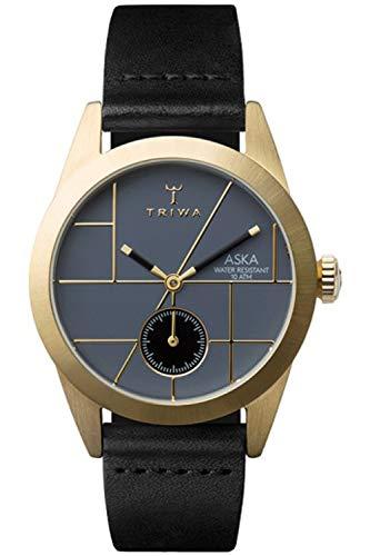 Triwa aska Womens Analog Japanese Quartz Watch with Leather Bracelet AKST105SS