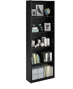 Amazon Com Ameriwood 5 Shelf Bookcase Set Of 2 White