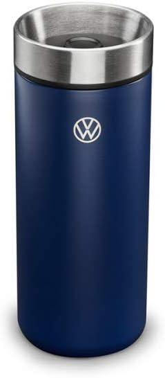 Volkswagen 5H0069604 Termo de Acero Inoxidable Grabado láser, Azul, con el Nuevo Logotipo de VW