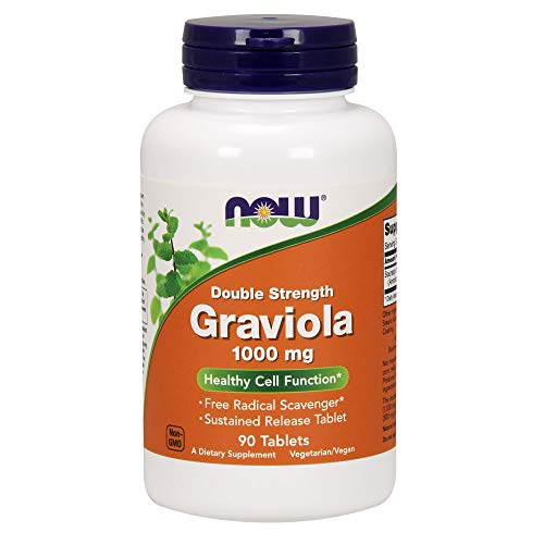 Now Graviola 1000 MG, 90 Tablets