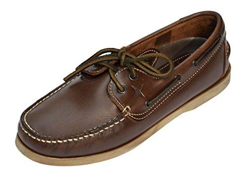MADSea All Summer Bootsschuh; Braunes Leder mit Brauner Sohle Braun