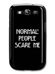 AMAF ? Accessories American Horror Story Murder House Normal People Scare Me Evan Peters Emma Roberts Quote case for Samsung Galaxy S3