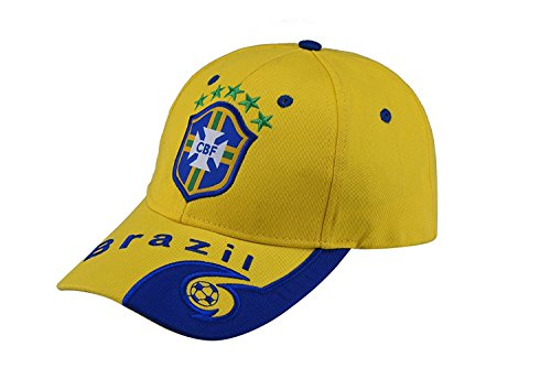 Authentic Brazil National Team Soccer Cap Home Hat Embroidered Adjustable Yellow Baseball Cap - Brazil Soccer Cap
