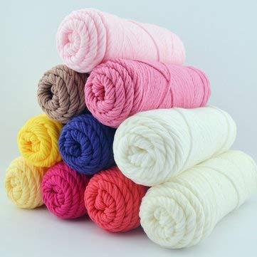 g - 100g 23 Colors Long Stalped Cotton Soft Knitting Wool Yarn 8 Plied Yarn Scarf Hat Swater Yarn Ball - Knitting Yarn Crochet Caron Cakes Bernat Purple Blanket Baby - 1PCs ()