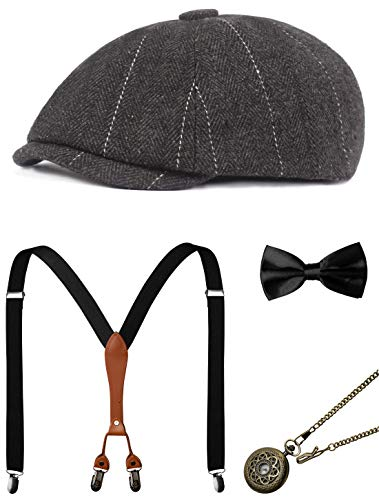 1920s Mens Accessories Gatsby Gangster Costume Accessories Set