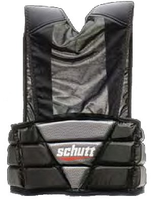 (Schutt Sports Hard Shell Football Rib Protector, Medium (26