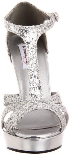 Sandalia Para Mujer Samara Con Plataforma De Dyeables Brillo Plateado