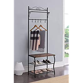 Kings Brand Furniture – Entryway Shoe Bench,...