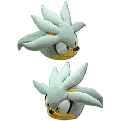 GE Animation GE-32355 Sonic The Hedgehog - Silver Sonic Head Fleece Cap: Toys & Games
