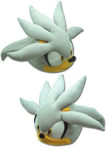 GE Animation GE-32355 Sonic the Hedgehog - Silver Sonic Head Fleece (Shadow Fleece Cap)