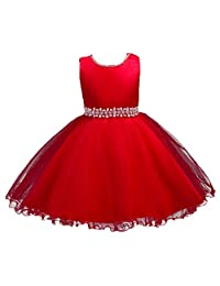 ADHS Flower Infant Girl Formal Special Occasion Dresses for 6M to 9Y