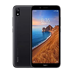 Xiaomi Redmi 7A (32GB, 2GB RAM) 5.45″ Display, Face ID, Dual SIM GSM Factory Unlocked (US + Global 4G LTE International Model) (Black)