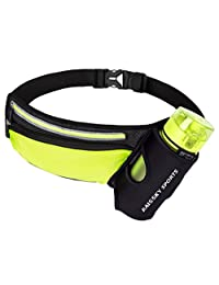 Haissky Fanny Pack Waist Bag Adjustable Strap with Water Bottle Holder Outdoor Sports Jogging Walking Hiking Cycling Fits iPhone 7 8 Plus X Samsung for Men Women