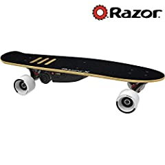 Put fun on cruise with the lithium-ion-powered electric skateboard made to zoom! The new RazorX Cruiser is a skateboard with an electrifying kick, putting the control of a 125-watt, geared motor in the palm of your hand and under your feet. T...