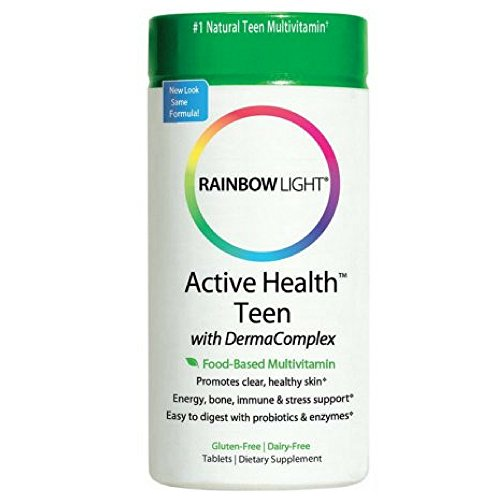 Rainbow Light Active Health Teen with DermaComplex multivitamin 60 tablets Pack of 4