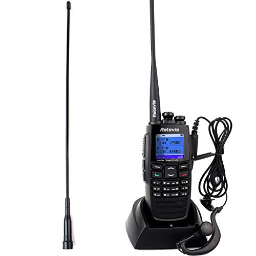 Uhf Gps - Retevis RT2 DPMR Two Way Radio GPS Digital/Analog Radio 5W VHF/UHF 136-174/400-470MHz 256CH VOX Message Scrambler Ham Radio(1 Pack)