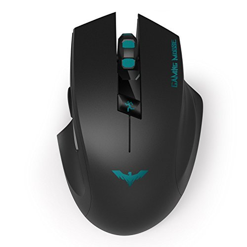 HIRALIY 2.4Ghz Optical Wireless Gaming Mouse for Laptops PC Computers (Black)