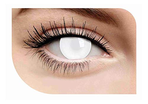 Halloween Cosplay Zombie Makeup Blanc Blind Dress Up Costume Accessory (Colored Cosplay Contact Lenses)