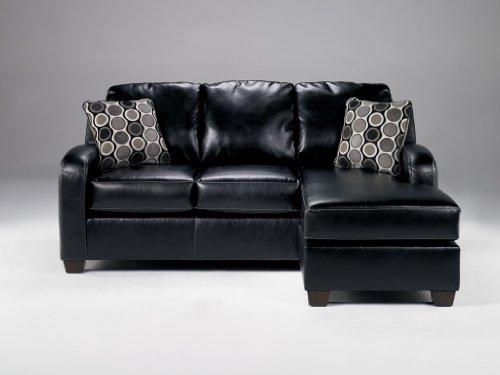 Devin DuraBlend Black Sofa Chaise
