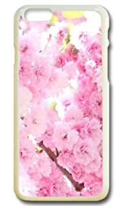 7257694M41282125 iPhone 6 Cases and Covers,Pink Cherry Blossoms PC Case Cover Protector Compatible with iPhone 6 4.7inch - White