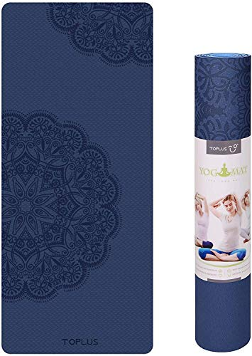 Body Alignment Yoga Mat – Pro Yoga Mat Eco Friendly Non Slip Fitness Exercise Mat with Carrying Strap-Workout Mat for…