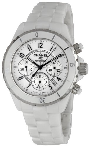 Chanel J12 Chronograph White Ceramic Unisex Watch H1007