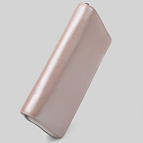 36 Credit Card Holder Wallet Leather RFID Women Card Case Organizer Purse (Rose Gold) by Bveyzi (Image #2)
