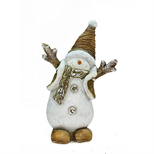Ceramic Snowman - Northlight Whimsical Ceramic Jolly Christmas Snowman Decorative Tabletop Figure, 19.5