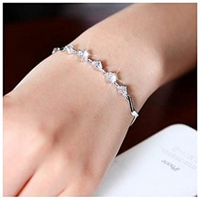 Flight Tracker Sterling Silver Anklet With Silver Star Dangles Good Heat Preservation Costume Jewellery