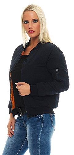 Bomber Para Cbkttrade Mujer Azul Chaqueta Oscuro Jacket pqqSA5