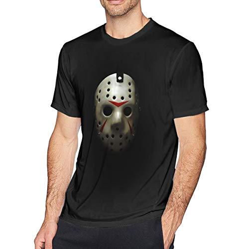 Houxiaojun The Many Moods of Jason Voorhees Mask Men Comfort T-Shirt Black 5XL -